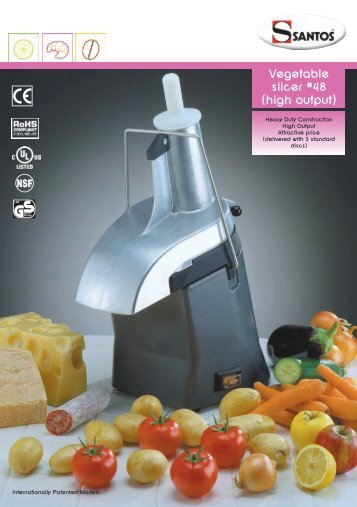 Vegetable slicer #48 (high output) - GastroBrill
