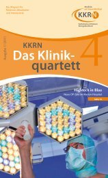 Das Klinik- quartett KKRN Hightech in Blau