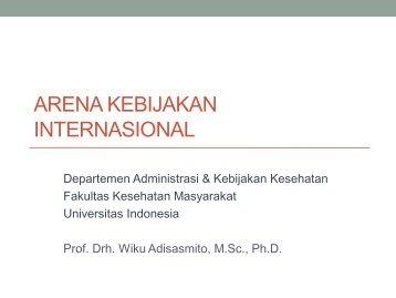 arena kebijakan internasional - Blog Staff UI - Universitas Indonesia