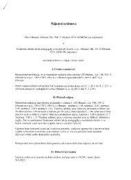 Nájemní smlouva - Obrataň