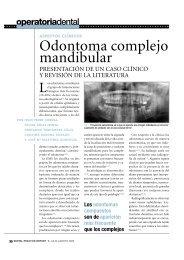 Odontoma complejo mandibular