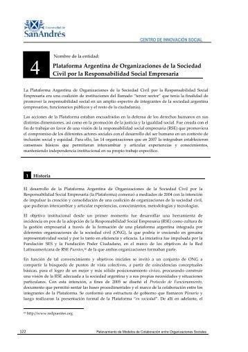 Plataforma Argentina de Organizaciones de la ... - Gestión Social