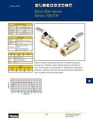 Parker Ball Valve Spec Sheet - MRO Stop
