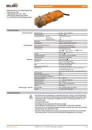 Technisches Datenblatt KR230 - Belimo