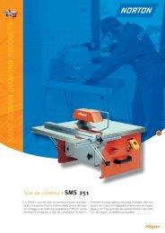 Scie de carreleur SMS 251 - Norton Construction Products