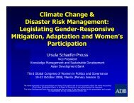 Climate Change & Disaster Risk Management ... - CAPWIP