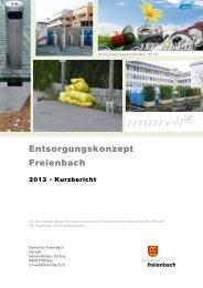 Entsorgungskonzept Freienbach - Kurzbericht [PDF, 446 KB]