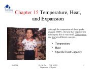 Chapter 15 Temperature, Heat, and Expansion
