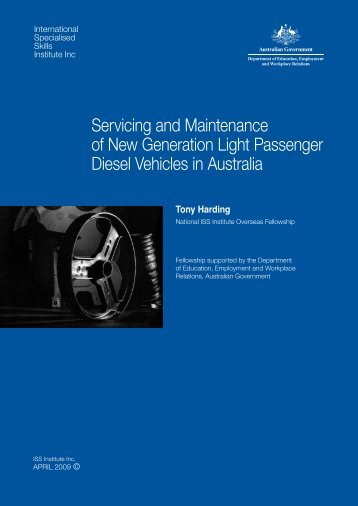 Servicing and Maintenance of New Generation Light Passenger ...