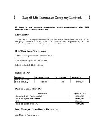 Rupali Life Insurance Company Limited