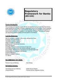 Regulatory Framework for Banks - UMT Admin Panel