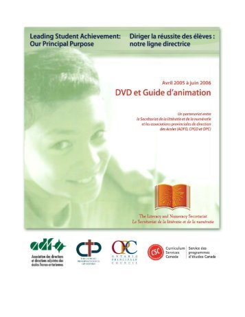 LSA Guide d'animation - Curriculum Services Canada