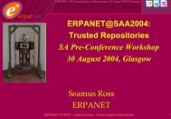 An Introduction to ERPANET