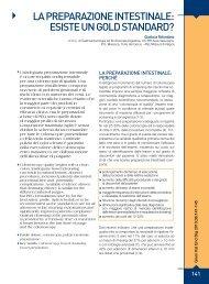 La preparazione intestinaLe: esiste un goLd standard? - Sied