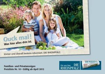Allgemeine Geschäftsbedingungen - Die Rheinpfalz