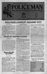 April 1985 - San Francisco Police Officers Association