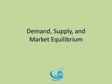 Demand, Supply, and Market Equilibrium