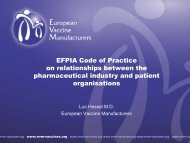 EFPIA Code of Practice on relationships between the ...