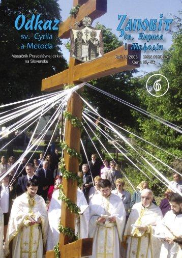 Jún - Mesačník Odkaz sv. Cyrila a Metoda