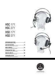 HSC 171 HSC 271 HSD 171 HSD 271 - Jands
