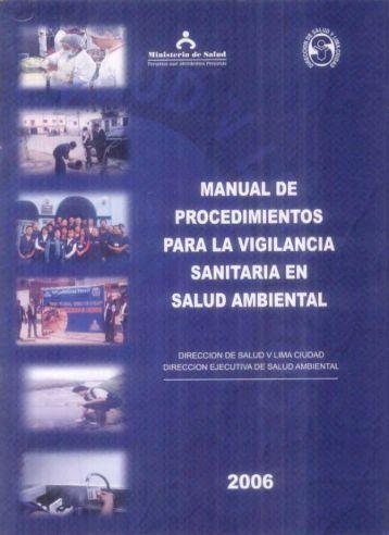 Manual de Procedimientos para la Vigilancia Sanitaria en Salud ...
