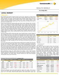 WEALTH WEEKLY LOCAL MARKET - Commonwealth Bank