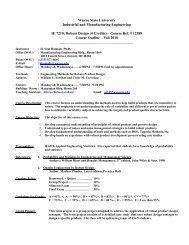 IE 7210: Robust Design - Industrial and Systems Engineering ...