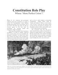 Constitution Role Play - Warren Hills Regional School District