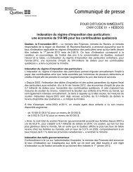 9 novembre 2011 - Finances