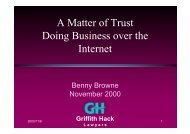 A Matter of Trust Doing Business over the Internet