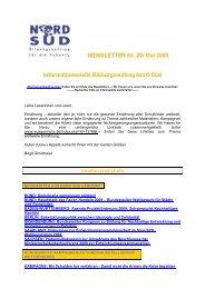 Newsletter Bildungsauftrag Nord-Süd Nr. 25 / Mai 2009 - World ...