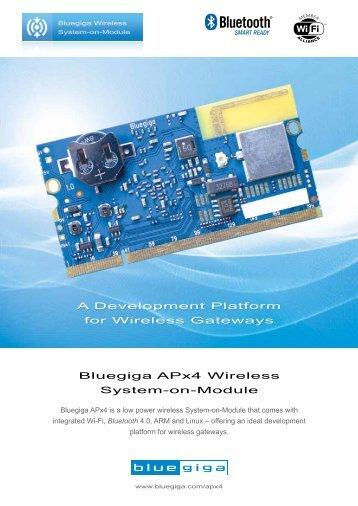 Bluegiga APx4 Wireless System-on-Module A ... - Hy-Line