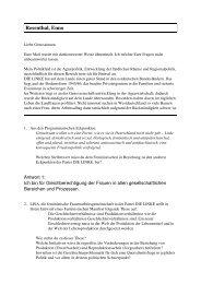 BAG LISA – Fragen an die EU-ParlamentskandidatInnen
