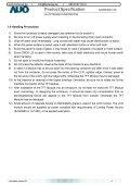 Produktspezifikation für AUO G185XW01 V0 Im ... - Fortec AG - Page 5