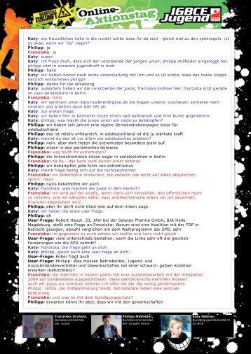 Protokoll vom WebCamChat