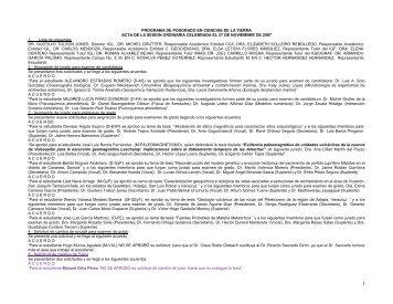 Noviembre 27 - Centro de Geociencias ::.. UNAM