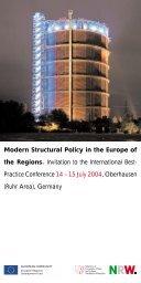 Practice Conference 14 – 15 July - NRW-EU Ziel 2-Programm 2000 ...