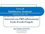 Interventi con FRP - Università degli Studi della Basilicata
