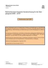Rahmenkonzept Integrierte Sonderschulung für die Über ... - hps