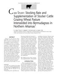 Stocking Rate and Supplementation of Stocker Cattle Grazing ...