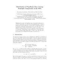 Distribution of PageRank Mass Among Principle Components of the ...