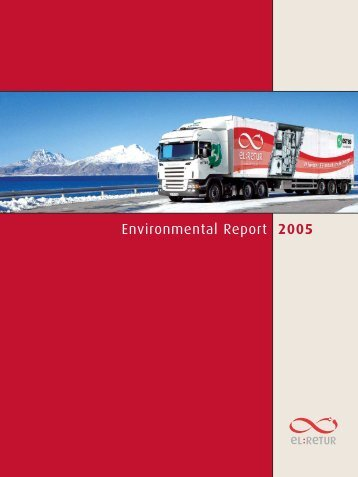 Environmental Report 2005 - e-Waste. This guide