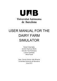 user manual for the dairy farm simulator - Pàgines de la UAB ...
