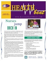 October 2001 Volume 4, Issue 10 - McCrone Healthbeat