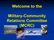 Welcome to the Military-Community Relations Committee (MCRC)
