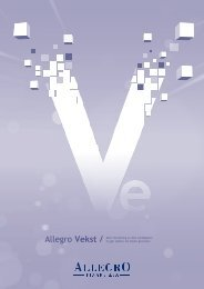Allegro Vekst / Aktiv forvaltning av dine verdipapirer. Vi gjør jobben ...
