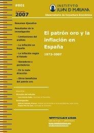 El patrón oro y la inflación en España - Instituto Juan de Mariana