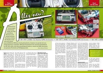 ++ SD-10G 2 4ghz von Sanwa/Lpr electronic ++ SD-10G 2 4ghz von
