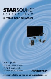 user guide s y s t e m 4 0 0 infrared hearing system - Centrum Sound