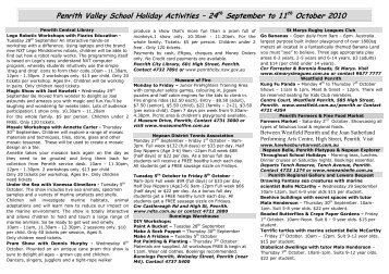 Penrith Valley School Holiday Activities